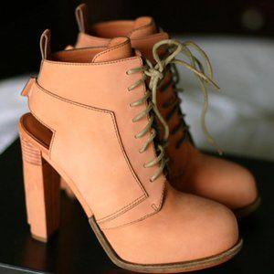 Alexander Wang Dakota terracotta lace-up boots 37